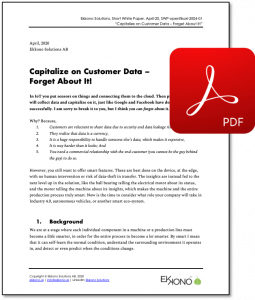 Short White Paper - Capitalize on Data - Forget about it!